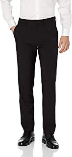 Haggar Men`s Active Series Performance Straight Fit Flat Front Dress Pant