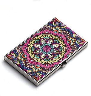 Heartzy Mandala Pattern Business Card Holder (Multicolor)
