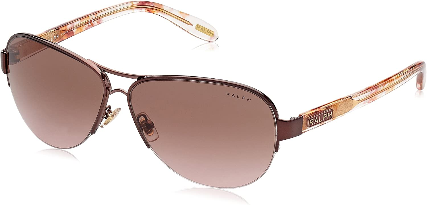 Ralph by Ralph Lauren 0RA4095 403 14 Aviator Sunglasses,Burgundy,58 mm