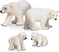 Terra by Battat – Polar Bear Family - Polar Bear Animal Toys for Kids 3-Years-Old & Up (4 Pc)