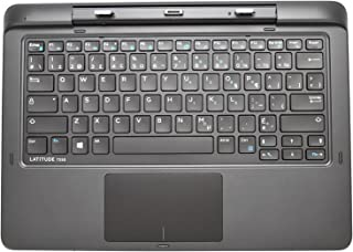 New 5KC0R Genuine OEM Dell Latitude 7350 2-in-1 Laptop Tablet FRENCH-CANADIAN Docking 82 CLAVIER Base Backlit Keyboard Dock w/Touchpad Palmrest K14A001 K14A Keyboard Base USB Lock SD Card mDP A/C