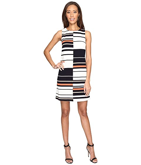 Ottoman Stripe Adrianna Papell Shift Dress Sleeveless wxwEr1q