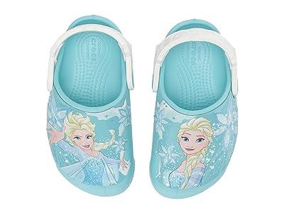 Crocs Kids CrocsFunLab Frozen Elsa Light Clog (Toddler/Little Kid) (Ice Blue) Girls Shoes