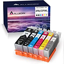 Allwork Compatible PGI-270XL CLI-271XL Ink Cartridge Replacement for Canon 270XL 271XL use for Pixma MG7720 TS9020 TS8020 ...