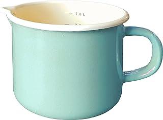 Karl Krüger 104146 cazo para Leche 1 L - Cazos para Leche (1 L, Crema de Color, Color Menta, Color Menta, Cerámico, Gas, Halógeno, Inducción, Placa de Sellado)