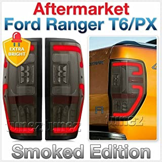 TUNEZ® Smoked LED Tail Lights Rear Lights Compatible With Ranger PX T6 F150 MK1 MK2 Wildtrak XL XLS XLT Limited 2 F-150 F1...