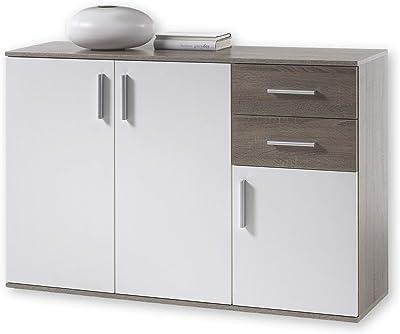 BOBBY Commode en chêne Sonoma foncé - Buffet moderne avec beaucoup d'espace de rangement pour votre salon - 120 x 82 x 35 cm