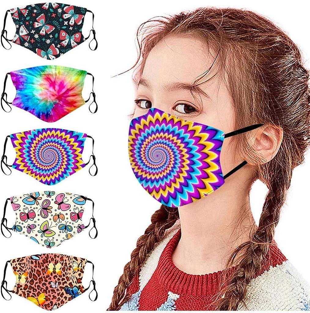 Celendi specialty shop 5PC Kids Masks boys Mask Children's Fashion Regular dealer Reusab Black