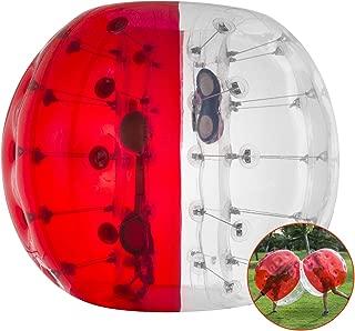 BestEquip Inflatable Bumper Ball Bubble Soccer 4ft Red Transparent Adult Human Child Bumper Ball