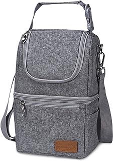 Insulated Baby Bottle Bag, Momcozy Multi-Function Breastmilk Cooler Bag & Lunch Bag, Fit as Wine Carrier or for Milk Bottl...