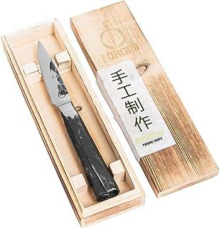 Forged Intense - Cuchillo para pelar (9 cm, Hecho a Mano, en Caja de Madera)