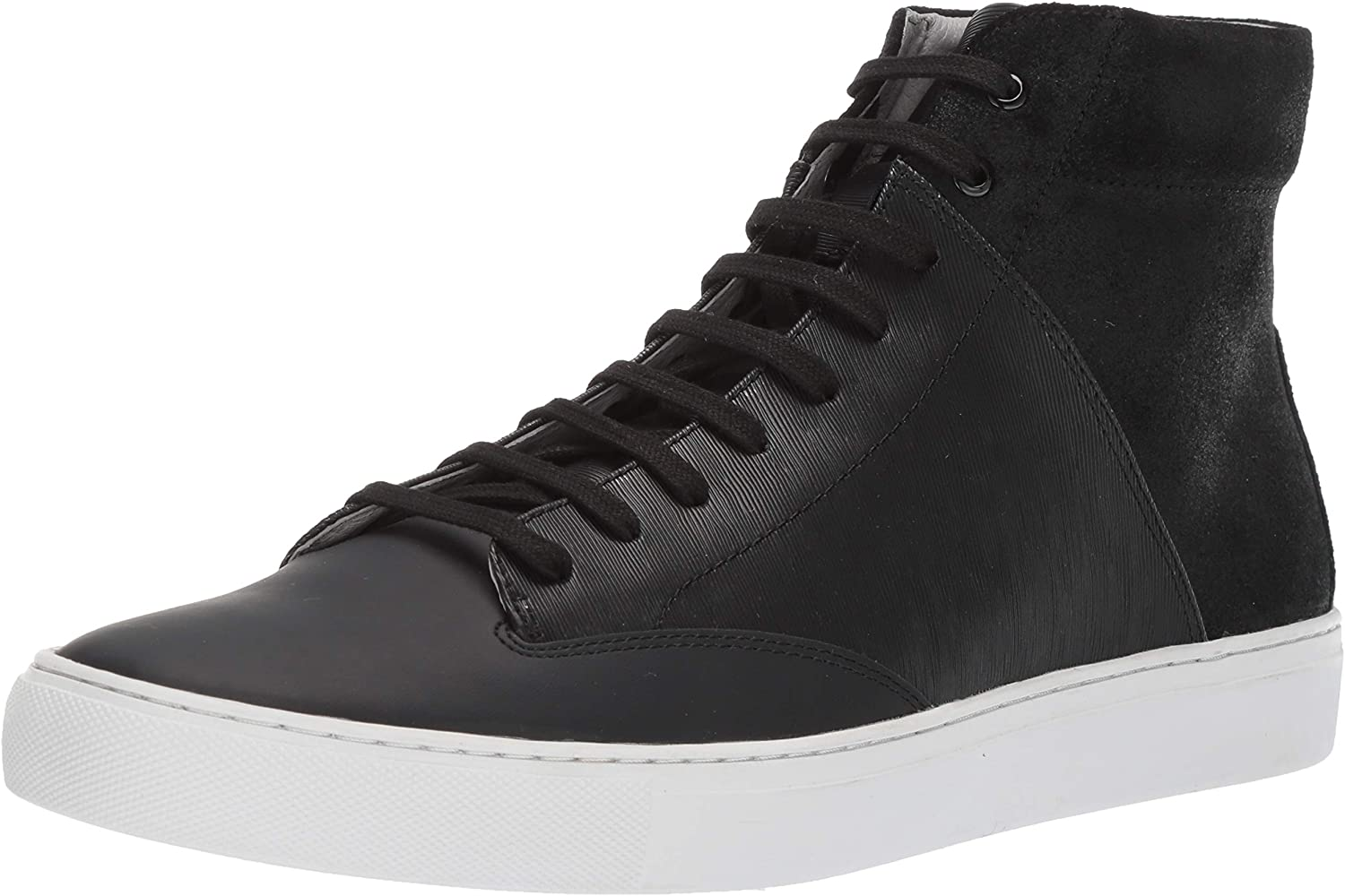 TCG Men's Premium shoes Porter All Leather High Top Laces Sneaker Black