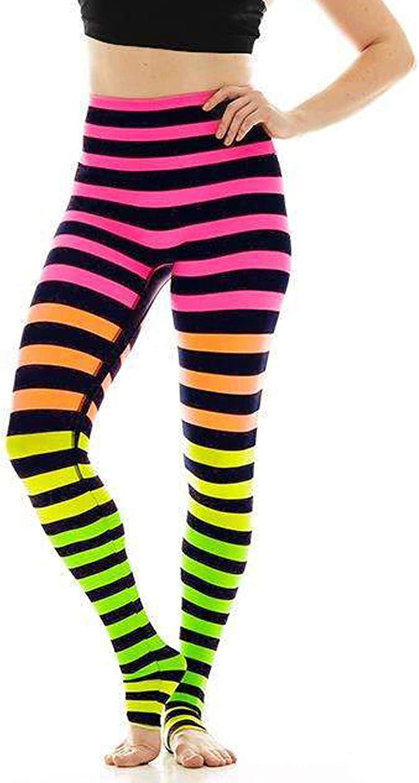 K-DEER Women's Activewear Signature Stripe Leggings