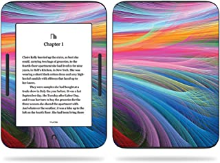 MightySkins Skin Compatible With Barnes & Noble NOOK GlowLight 3 (2017) - Rainbow Waves | Protective, Durable, and Unique Vinyl Decal wrap cover | Easy To Apply, Remove | Made in the USA