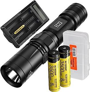 Nitecore EC23 1800 Lumens High Performance LED Flashlight, 2X 3500mAh Rechargeable Batteries, UM20 Digital Smart Charger and Lumen Tactical Battery Organizer
