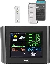 TFA Dostmann Meteo, 35.8000.01, draadloze weersvoorspelling, gratis view-app, instelbare alarmen, dauwpunt, hitteindex, zwart