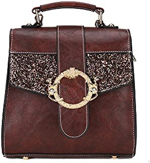 Vintage Mini Bling Backpacks Travel Fashionable Women Small backpack Leather Shoulder Bag