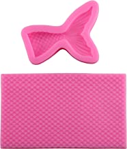 Mujiang Mermaid Tail Scales Mat Silicone Jelly Cake Decorating Sugar Candy Chocolate Fondant Molds