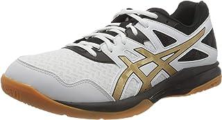 ASICS Men's Gel-Task Volleyball Shoe, White Pure Gold, 9 UK