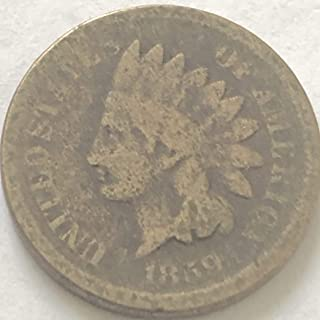 1859 P Indina Head First Year Of Indian Head Penny Cent Good
