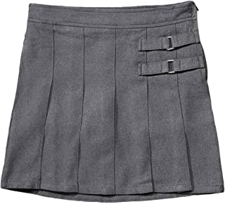 French Toast Girls Two-Tab Pleated Scooter 16 Gray