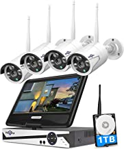 """[8CH Expandable] Hiseeu All in one with 10.1"""" Monitor Wireless Security Camera System,8ch Wireless Home Security Camera Sy..."""