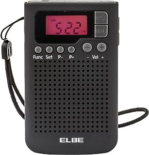 Elbe RF-93 Radio de bolsillo digital, radio am/fm, memoria