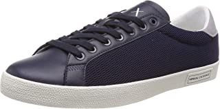 A|X Armani Exchange Men's Lace Up Sneaker with Suede Heel