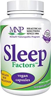 Michael's Naturopathic Programs Sleep Factors - 90 Vegan Capsules - Supports Falling Asleep Naturally, Contains 5-HTP & Me...