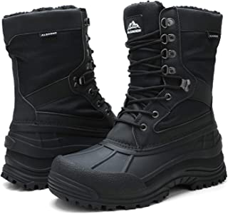Men's Lace Up Insulated Waterproof Winter Snow Boots