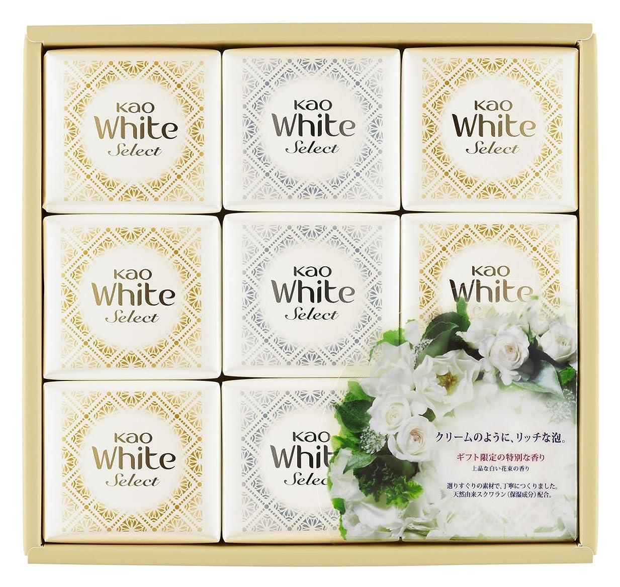 はねかける落ちたセージ花王ホワイト セレクト 上品な白い花束の香り 85g 9コ K?WS-15