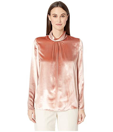 RED VALENTINO Liquid Velvet Turtleneck Top