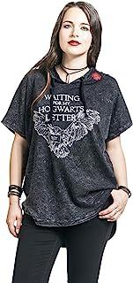 HARRY POTTER Hogwarts Letter - Waiting Mujer Camiseta Gris Oscuro