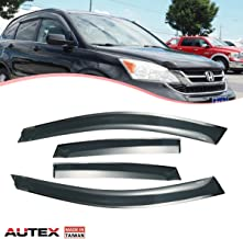 AUTEX Tape on Window Deflector Compatible with Honda CRV 2007 2008 2009 2010 2011 Window Visor Shade Rain Guards Made in Taiwan