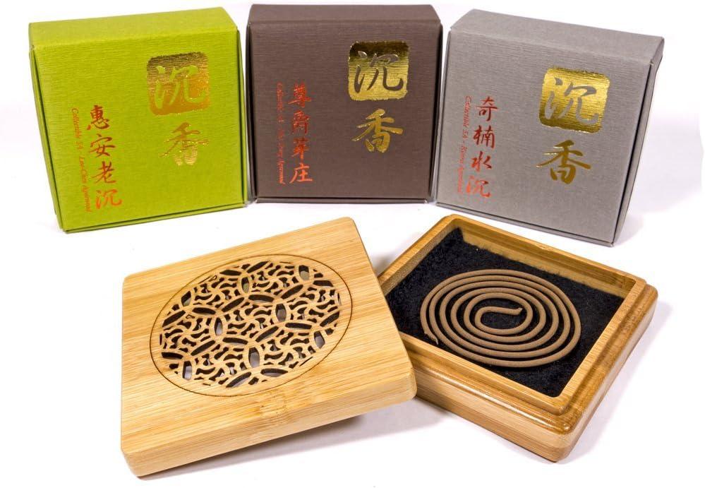 TopA+ Grade Agarwood Incense Coils Set - 3 levels each 10pcs - W