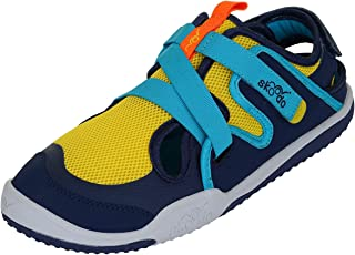 skoodo Kids Casual Sports Shoes (Boys and Girls 6-14 Years) - Ziggie Zag - Sunshine Yellow | Navy