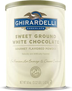 Ghirardelli Chocolate Sweet Ground White Chocolate Flavor Beverage Mix, 50-Ounce Canister