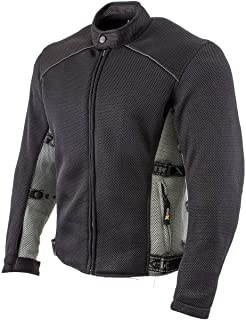 Xelement CF505 Men`s Black Advanced Mesh Sports Jacket with X-Armor Protection - X-Large