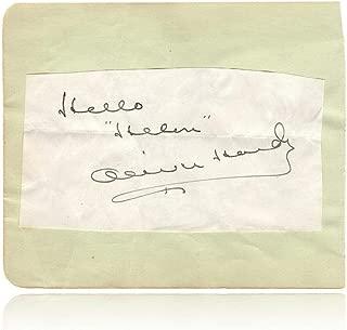 stan laurel autograph
