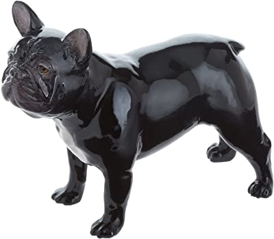 John Beswick French Bulldog Figurine, Earthenware, Black/Multi-Colour, 11.5 x 4 x 9 cm