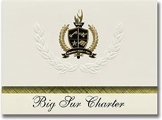 Signature Announcements Big Sur Charter (Big Sur, CA) Graduation Announcements, Presidential style, Basic package of 25 wi...