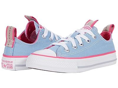 Converse Kids Chuck Taylor(r) All Star(r) Ox Color Pop (Little Kid/Big Kid) (Sea Salt Blue) Girl