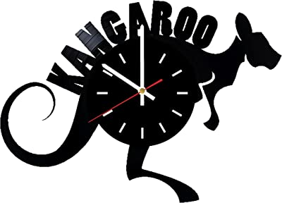 Everyday Arts Kangaroo Animal Design Vinyl Record Wall Clock - Get Unique Bedroom or Garage Wall
