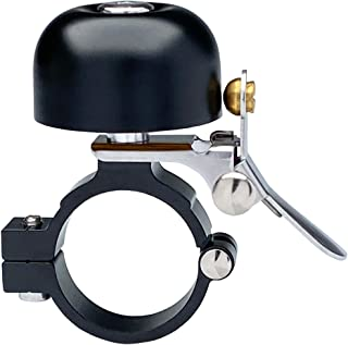 Zotemo Brass Bike Bell Pro, All Metal Body, Loud Decent Tone Bicycle Ring Bell for Adults and Kids, Fits 0.79 to 1 Inch Bi...