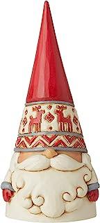"Enesco Jim Shore Heartwood Creek Nordic Noel Reindeer Hat Gnome Wonders at Work Figurine, 2.17""H, Dirty White, Red, Gray"