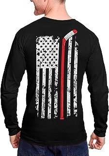 Hockey Stick American Flag - Sports USA Unisex Long Sleeve Shirt