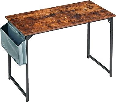 IBUYKE Bureau Informatique, Table d'étude, Poste de Travail, 100x50x75 cm, Bureau d'ordinateur avec Sac de rangement, Cad