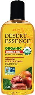 Desert Essence Organic Jojoba Oil - 4 Fl Oz - Moisturizer for Face, Skin, Hair - Cleanses Clogged Pores - May Prevent Scal...