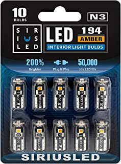 SiriusLED 3030 PX Chipset Super Bright Compact Wedge LED Bulbs for Interior Car Lights License Plate Dome Map Courtesy Sid...