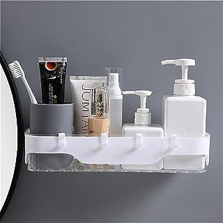 CGLOVEWYL étagère de Salle de Bain Support de Rangement Transparent avec Crochet Stockage de shampooing pour Organisateur ...
